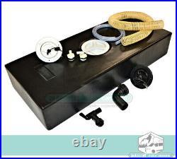 40 Litre Water Tank Kit for Campervan Motorhome Van Fresh/Waste Water BLACK CAP
