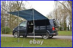 Sun Canopy Awning For VW Camper Van Motorhome Camper Car 2.4m x 3m SILVER GREY